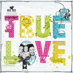 bright happy true love #scrapbook page by Lego at DesignerDigitals.com #shopDesignerDigitals