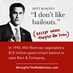 Yes, screw bailouts for our auto industry but when it comes to HIS finances it's gimme gimme gimme. Hypocrisy yet again!