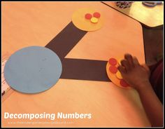 A kindergarten lesson showing how to use number bonds to decompose numbers! Free number bonds activities included! Directions to make giant number bonds.