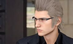 [FFXV] When a background is out of focus in a cutscene, any part of it behind Ignis' glasses is in focus. Attention to detail is absurd. : FinalFantasy