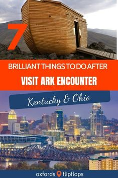 Ark Encounter sits halfway between Cincinnati, Ohio and Lexington, Kentucky. After you visit the Ark Encounter, there is so much more to do in the area! We searched and found 7 more brilliant things to do while in the area! Kentucky Vacation, Florida Vacation, Vacation Places, Vacation Destinations, Vacation Trips, Places To Travel, Places To See, Vacation Ideas, Vacation Travel