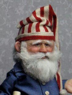 An elfin-like Santa by Sharon Cariola  - A great face!