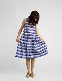 geo plaid wide tank dress #shopbird15 #SS14