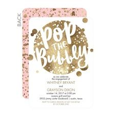 Bubbly Affair Party Invitations