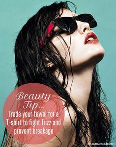 Beauty Trick: The Towel T-Shirt Swap