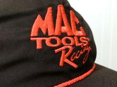 Vintage MAC Tools Racing Snap Back Hat Neon on Black by Glean16