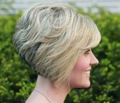 Gorgeous Stacked Bob Hairstyle With Side Swept Bangs For Thick intended for Stacked Bob With Side Bangs