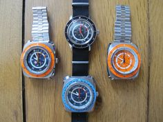 Some versions of the original Favre Leuba Bathy.lovely considering it was born in the Vintage Dive Watches, Favre Leuba, Poisons, Seiko, Casio Watch, Cool Watches, Vintage Men, Dreams, Classic