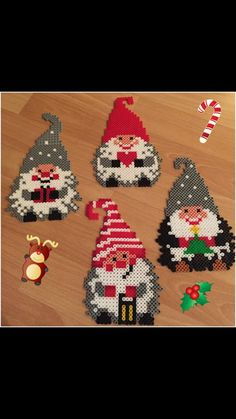 - Ironing beads more - Pearler Bead Patterns, Perler Patterns, Bead Crafts, Diy And Crafts, Christmas Themes, Christmas Crafts, Christmas Perler Beads, Beading For Kids, Peler Beads