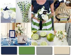 navy blue and lime green wedding ideas 2014 wedding colors--This is another awesome color combo!