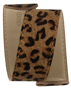 Leopard Print Extra Leather Slap Watch Band