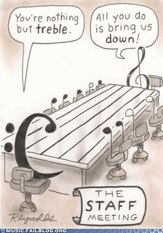 Band geek humour. - And notice that alto Clef if missing?  Totally appropriate, since no one ever remembers it exists :)