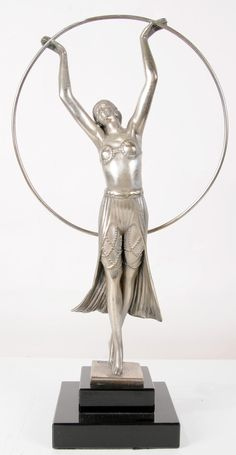 Bronze Art Deco Hoop Dancer by Chiparus www.canonburyantiques.com