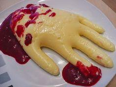 Eiterhände in Blut