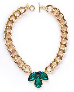 Emerald Fleur De Lis Necklace