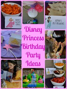 Disney Princess Birthday Party Ideas: Favors, Crafts, Food, Activities and more! events to CELEBRATE!