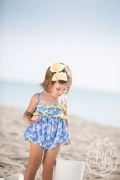 St. Barts Bubble Swimsuit - St. Simons Sail Boat with Seaside Sunny Ye   The Beaufort Bonnet Company
