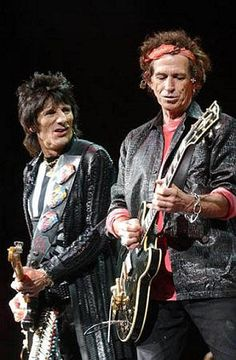 Ronnie Wood and Keith Richards (The Rolling Stones)