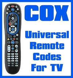 Cox Universal Remote Codes For TV