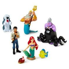 Disney The Little Mermaid Figure Play Set - Disney Little Mermaid Princess Ariel Figurine Cake Toppers Decorative Play Set -- See this awesome image