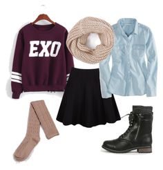 exo by chichi23 on Polyvore featuring polyvore fashion style American Eagle Outfitters Ichi