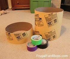 Drum.  Use something a bit more elastic than duct tape, but would be great for class.