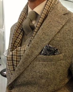 ♔ Harris tweed jacket