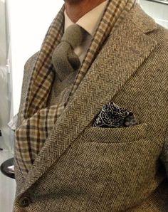 ♔ Harris tweed jacket