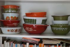 green and orange pyrex collection