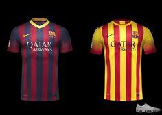 7c9f6b78de97a Barcelona Home and Away Shirts 2013 - 2014 New Football Shirts
