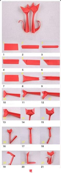 Origami is the traditional Japanese art of paper folding, which transforms a flat sheet of paper into a finished sculpture through folding and sculpting techniques. Here is a nice tutorial on how… Cat Origami, Origami And Kirigami, Origami Paper Art, Diy Paper, Paper Crafting, Dollar Origami, Oragami, Origami Ball, Origami Boxes