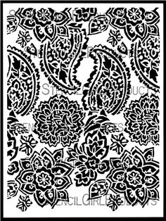 Paisley Floral Repeat Stencil by Jessica Sporn for StencilGirl $14.00