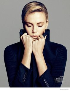 Charlize Theron Stuns in October 2014 Cover Shoot of Bazaar China