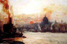 Le Port Upper de George Hyde Pownall (1876-1932)