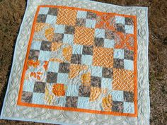 Baby quilt I made for a client (ACU and JD fabric)