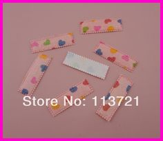 Free shipping fabric small heart printing rectangle snap clip covers for 50mm snap clip for DIY hair accessories