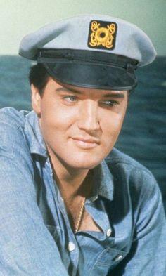 Elvis blue sailor hat larger