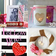 36 idéias das decorações do dia dos namorados de DIY.  Os corações bonitos e as rosas, os rosa e os vermelhos, estas decorações fabulosas do dia dos namorados de DIY enrijecerão acima de sua casa e têm-no sonhar do amor!  Estes são tão bonito, fácil e simples.  Tenho que tentar!