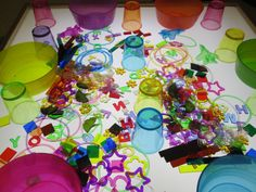 color sorting on the light table