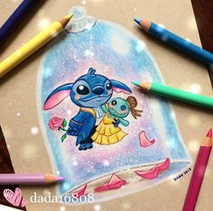 dada16808 Disney Stitch as Beauty and the Beast