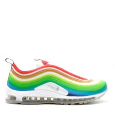low cost 1db42 85bca Nike Air Max 97 Lux Rainbow Metallic Silver White Uk For Sale