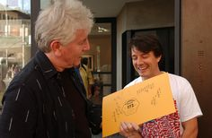 MA presenting a gift to Graham Nash 2004