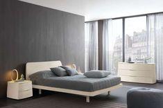 Camera da letto moderna. Modern bedroom. Camera moderna con finitura ...