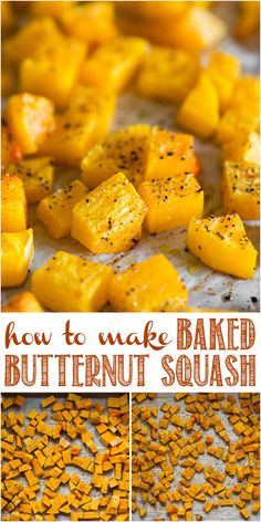 Baked Butternut Squash is an incredibly healthy and easy vegetable side dish. Roasted to perfection, this flavorful squash is delicious! #bakedbutternutsquash #easy #oven #recipes #healthy #cubes #whole