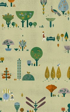 Incredible illustrator and graphic designer found thanks to Darling Clementine's brilliant blog - Tom Tom Gardens / Lotta Nieminen