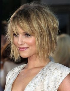 Dianna Agron Messy bob Hairstyle For Party hair look- : Hairstyles