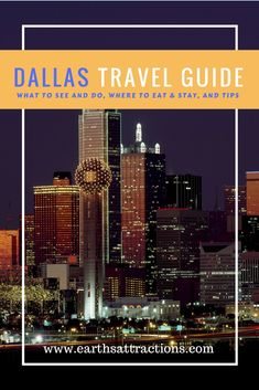 A local's complete travel guide to Dallas, USA - the includes the top attractions in restaurants, hotels, and tips; What to see in Dallas Usa Travel Guide, Travel Usa, Travel Guides, Travel Tips, Travel Articles, Travel Stuff, Luxury Travel, North America Destinations, Us Destinations