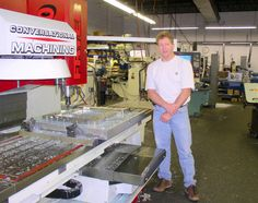 HTS Systems' National Accounts Manager Carl Boettcher at BCR Mold and Tool in Linden, New Jersey. CNC machine cutting inner cavity of large main frame injection mold. This design was created by Brent Lucas of LucDesigns, Carl Boettcher of HTS Systems, Robert Foster and Chris of BCR Mold and Tool.