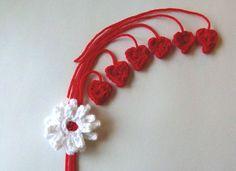 Mini Crochet Hearts with Flower by LaraineRoseHandiWorx on Etsy
