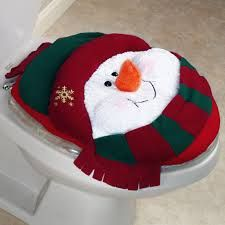 Cutest Bathroom Christmas Decorations With Smiling Snowman Toilet Cover For Toddler Bedroom Decor / Bathroom Inspiring Christmas Bathroom Ac. Christmas 2014, Felt Christmas, Country Christmas, Christmas Snowman, Christmas Projects, Christmas Ornaments, Christmas Bathroom, Holiday Fun, Holiday Decor